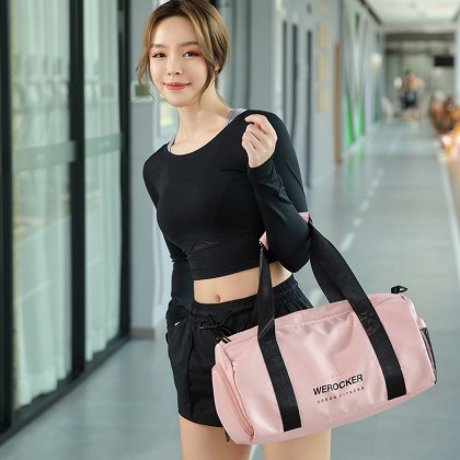 Werocker Urban Fitness Gym Bag Pink
