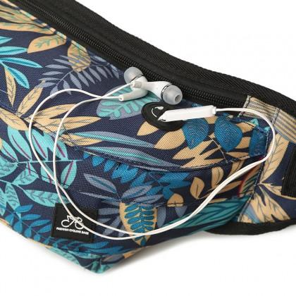 Werocker Moving Waist Bag (Blue Leave)