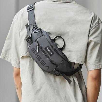 Landcase Sisea Reflective Crossbody Bag 8005 (Black)